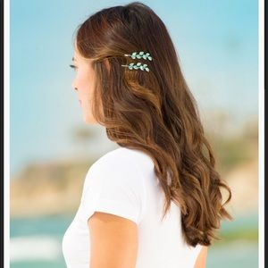 Del sol color changing hair pins butterfly leaves